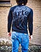 Men's Long Sleeve black Arte Shirt back view