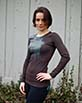 Women's Long Sleeve brown Arte Shirt Sleeve View