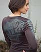 Women's Long Sleeve brown Arte Shirt Front View