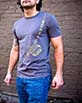 Men's Short Sleeve grey Berimbau Shirt