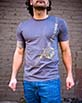 Men's Short Sleeve grey Berimbau Shirt side view