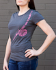 Women's Short Sleeve Grey Berimbau Shirt side view