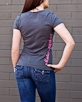 Women's Short Sleeve Grey Berimbau Shirt back view