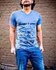 Men's Short Sleeve blue Gunga Shirt