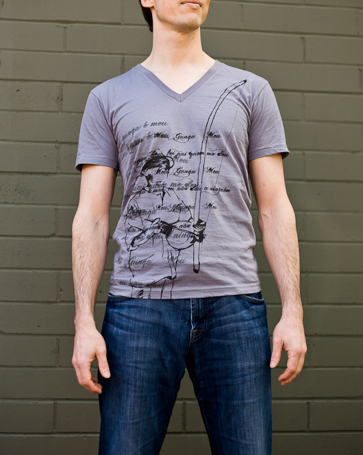 Men's Short Sleeve Grey Gunga Shirt