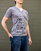 Men's Short Sleeve Grey Gunga Shirt side view