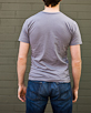 Men's Short Sleeve Grey Gunga Shirt back view