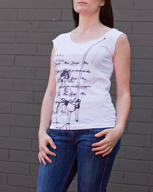 Women's Short Sleeve White Gunga Shirt