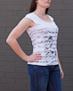 Women's Short Sleeve White Gunga Shirt side view