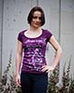 Women's Short Sleeve Purple Gunga Shirt