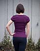 Women's Short Sleeve Purple Gunga Shirt side view