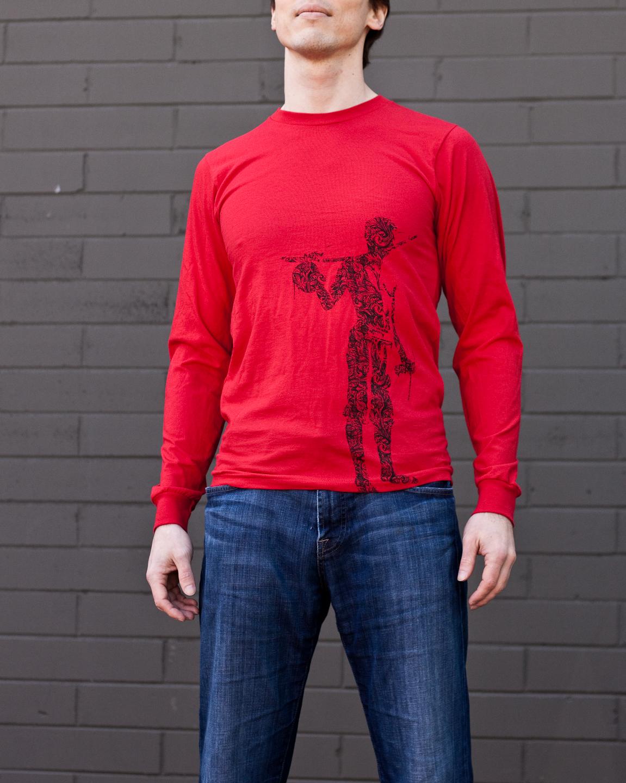 Men's Long Sleeve Red Beribau Shirt : Capoeira Clothing : Wear ...