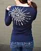 Women's Long Sleeve Navy Berimbau Shirt back view