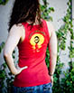 Women's Red Tank Top back view