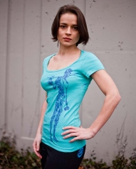 /womens/womens-tees/womens-short-sleeve-teal-berimbau-player-shirt/