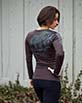 Women's Long Sleeve brown Arte Shirt Back View
