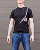 Men's Short Sleeve Black Berimbau Shirt