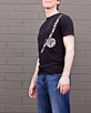 Men's Short Sleeve Black Berimbau Shirt side view