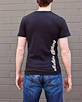 Men's Short Sleeve Black Berimbau Shirt back view