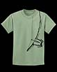 Youth's Short Sleeve Green Berimbau Shirt design closeup