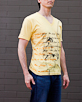 Men's Short Sleeve Yellow Gunga Shirt side view
