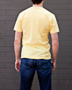 Men's Short Sleeve Yellow Gunga Shirt back view