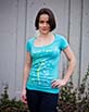 Women's Short Sleeve teal Gunga Shirt