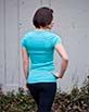 Women's Short Sleeve teal Gunga Shirt side view