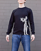 Men's Long Sleeve Black Berimbau Shirt