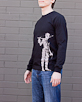 Men's Long Sleeve Black Berimbau Shirt side view