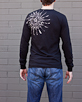Men's Long Sleeve Black Berimbau Shirt back view