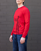 Men's Long Sleeve Red Berimbau Shirt side view