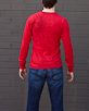 Men's Long Sleeve Red Berimbau Shirt back view