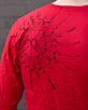 Men's Long Sleeve Red Berimbau Shirt design closeup