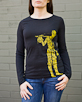 Women's Long Sleeve Black Berimbau Shirt