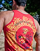 Women's Red Tank Top close up view