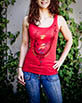 Women's Red Tank Top front view